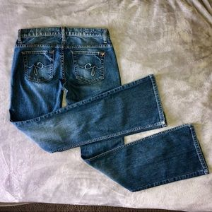 GUESS Foxy Flare Blue Jeans